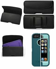 IPHONE 5/5c/5s/SE BELT CLIP HOLSTER LEATHER  FIT OTTERBOX COMMUTER CASE ON PHONE