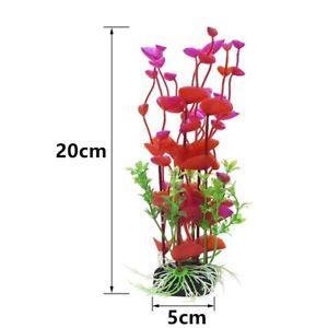 Artificial Aquarium Plant Decoration Fish Tank Fake Water Plant Grass Flower