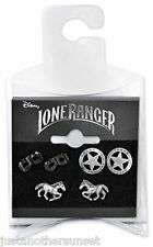 Disney Lone Ranger 3 Set Earrings Horse Mask Texas Ranger Star Cowgirl Cosplay