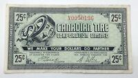 1962 Canadian Tire Money 25 Cents CTC-7-E1-V Circulated Mor Power Gas E155