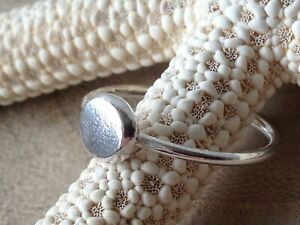 Sterling Silver 'Pebble' Handmade Stacking Ring
