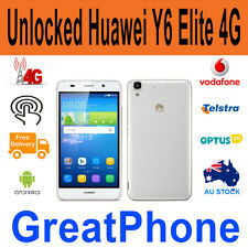 "Unlocked New Huawei Y6 LYO-L02  Elite  4G 5"" White SmartPhone  * all networks"