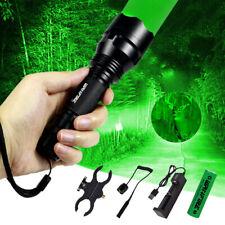 Taktische Grün/Rot/Weiß LED Taschenlampe Jagd Lampe Licht Torch Fackel Outdoor