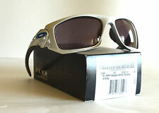 NEW Oakley D-MPH Scalpel Sunglasses White Chrome w Grey 009095-28 FS, NIB