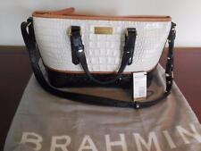 Brahmin Mini Asher Sugar Tri-Texture Croc Embossed Leather Handbag