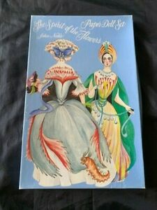 VTG PAPER DOLL 1980s SPIRIT OF THE FLOWERS by JOHN NOBLE BOX SET Autographed