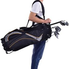 "9"" Sports Golf Bag 7-way Divider Carry 7 Pockets Storage Dual Strap Orangizer"