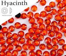 5 mm Gran Calidad Hot Fix/hierro en Jacinto Naranja Flatback Redondo revisión SS20