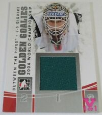 2010-11 In The Game Between The Pipes Golden Goalies J-S Giguere 1/1 PATCH Card