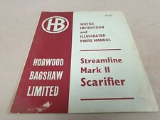 1968 HORWOOD BAGSHAW Streamline Mk 2 SCARIFIER Instruction Book