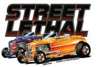 STREET LETHAL Custom Car HOT ROD Racing RAT ROD Bumper Sticker TOOLBOX Decal