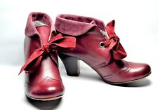 NEW HUSH PUPPIES LONNA SHOOTIE ANKLE BOOTS BURGUNDY SIZE 7.5(US)