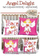 Angel Delight Xmas Cushion PATTERN - Claire Turpin - Applique Cushion Patterns