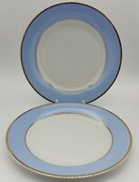 Four ROYAL DOULTON Bruce Oldfield  DUCK EGG BLUE Side Plates With Gold Trim