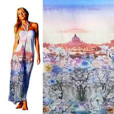 Polyester chiffon fabric digital printed pretty view 30D 33015
