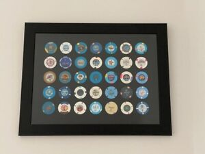Casino/Poker Chips Insert Display Boards and (optional) Frames (FREE UK Postage)