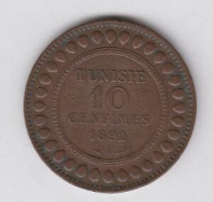 TUNISIA TUNISIE 10 Centimes 1892 copper (tun196)