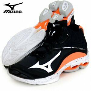 MIZUNO Volleyball Shoes WAVE LIGHTNING Z6 MID V1GA2005 Black x White x Orange