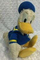 "Vintage  16"" Plush DONALD DUCK Sailor Stuffed Animal Walt Disney World White"