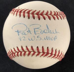 Pat Borders Signed Baseball Budig Blue Jays Autograph 92 WS MVP Inscription JSA
