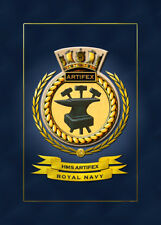 HMS ARTIFEX FRAMED SHIPS CRESTS - HUNDREDS OF HM SHIPS IN STOCK