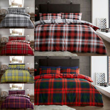 Luxury Flannel Duvet Cover Set Pillowcases Printed Soft Brushed Cotton Bedding