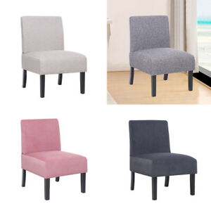 Modern Velvet Linen Dining Chairs 1/2pcs Padded Seat Dressing Piano Stool Lounge