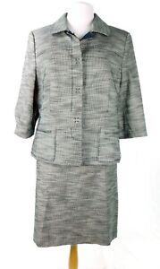 NWOT Ann Taylor Women's Black 3/4 Sleeve Suit Size 16 Jacket, Size 12 Skirt NEW