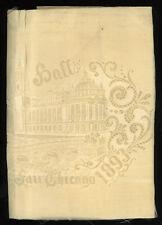 1893 -  Chicago World's Fair -  original silk napkin.
