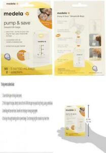 Medela Pump and Save Breast Milk Bags, 50 Count 50