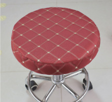 """No10Pcs 14"""" Bar Stool Covers Round Chair Seat Cover Cushions Sleeve Wine Red"""