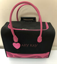 Mary Kay Consultant Caring Case Organizer Luggage on Wheels Black Pink