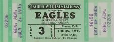 The Eagles 1975 Unused Selland Arena Concert Ticket / Don Henley / Nmt 2 Mint