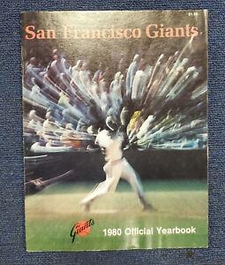 1980 SAN FRANCISCO GIANTS BASEBALL YEARBOOK