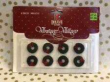 Christmas Miniature Village Wreaths Set of 8 Nip Crafts Holiday Time