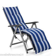 Auflagen für Relax Liegestuhl Relaxsessel Relaxauflagen Naxos 20581-110 in blau