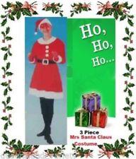 Mrs SANTA CLAUS Budget 3pce COSTUME Christmas DRESS Helper Party Work 1 Size NEW