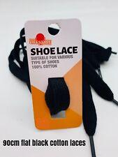 Black Flat Shoe Laces 90cm Strong Quality Weave Cotton Shoelaces Australian