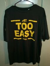 Army Shirt Men's Large A4 Too Easy Army Performance Black Yellow Athletic Tee