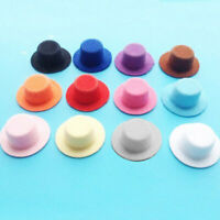 Dollhouse Black 1:12 Scale Doll House Miniature Bowler Hat Top Hats Caps.