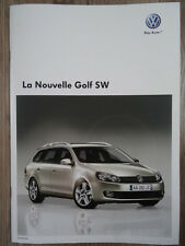 Catalogue Volkswagen Golf 6 SW édition octobre 2009 23 pages NEUF