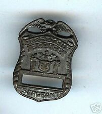 Jersey City police Sergeant mini Badge (FLAT)