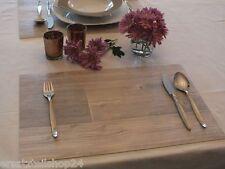 * Holzdekor Tischset Antik gekalkt, abwaschbar rutschfest Platzset Deko #14