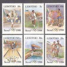 Lesotho 1987 Olympics/Judo/CORRECT FLAG/Sports/Games/Tennis 6v set (n14060)
