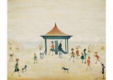 L S Lowry - On the Sands, Berwick - MEDICI POSTCARDS
