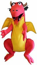 """Puppet dragon 30"""" Ventriloquist.Play,Educational.Moving mouth and arm rod"""