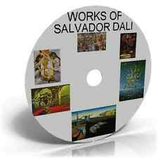 WORKS OF SALVADOR DALI,1800+ PHOTO IMAGES PAINTING, SURREALISM , FANTASY ART CD