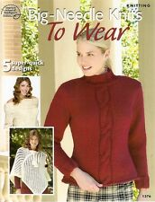 Knitting Booklet : Big-Needle Knits To Wear - by Asn - 5 Patterns !