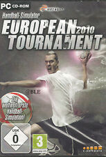 PC CD ROM + Pallamano simulatore + SPORT + European tournament 2010 + Win 7 +