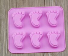Baby Feet Shower Silicone Mould Cake Chocolate Mould Wax Melt Candle Icing Paste